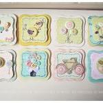 Mini button Spring cards