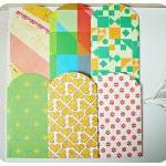 6 mini pattern paper envelope / pac..
