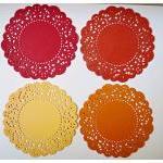 Parisian Lace Doily Red & Orange fo..