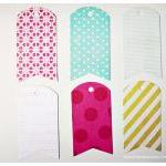 6 pattern paper tags