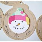 Snowman Round tags