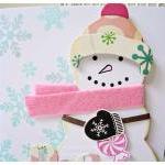 Snowman pink card