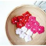 Mini crochet flower single layer fo..