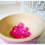 10 Flower bright pink with pearl in..