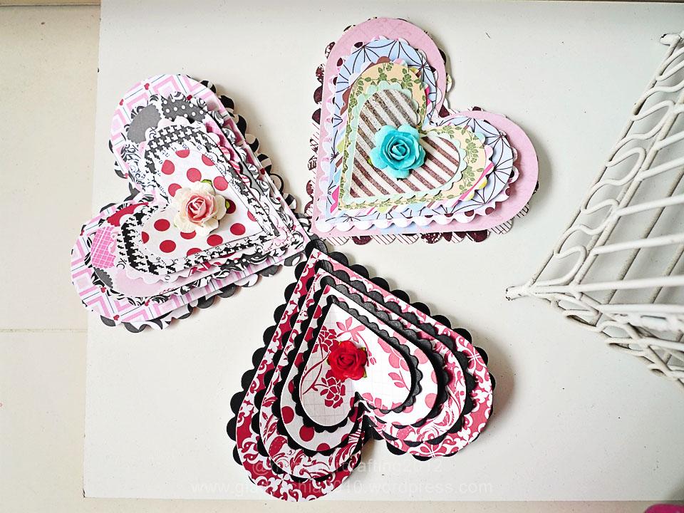 Layered Heart Shape card