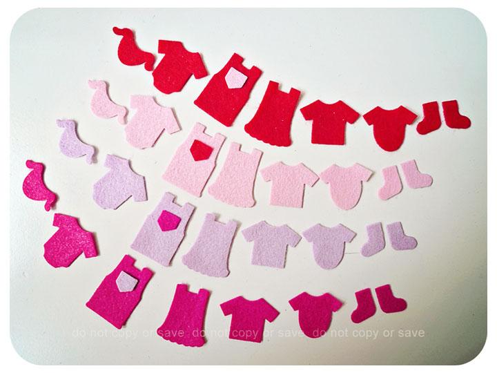 Little children clothes felt pieces (9)