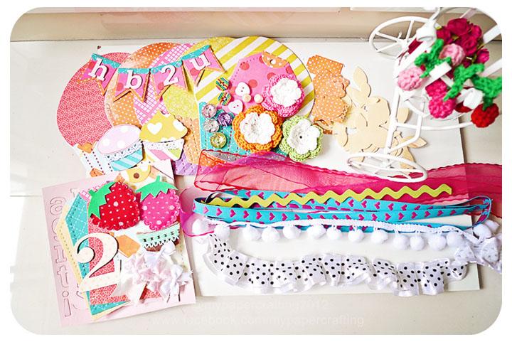 Happy Birthday Cupcake Album kit