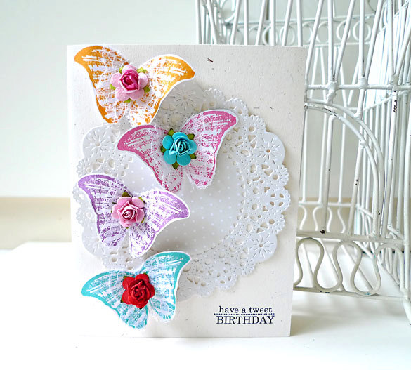 Butterfly Colorful Happy Birthday Handmade Card On Luulla