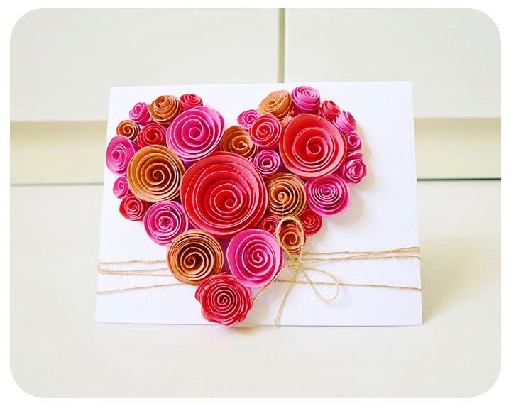 Heart shaped swirl flower card on luulla heart shaped swirl flower card m4hsunfo